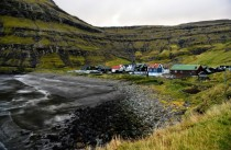 Tjornuvik village located on Streymoy of the Faroe Islands