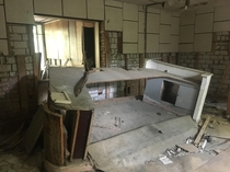 Today I visited Chernobyl this is the front desk of the Prypyat police station