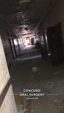 Today I went into an old hospital