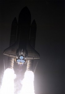 Today in  STS- Discovery launch on the nd Hubble servicing mission