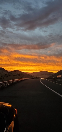 Today was a pull over on the freeway on the way to work kind of sunset Patrick Nevada