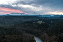Todays sunrise from Jonsrud viewpoint Oregon USA