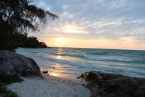 Todays sunrise in Koh Rong Cambodia