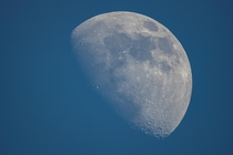 Todays  waxing gibbous Moon during daylight