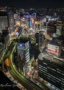 Tokyo from a hotel window