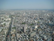 Tokyo looking east from SkyTree first observation deck m  OC