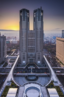 Tokyo Metropolitan Government Building the tallest building in Tokyo until