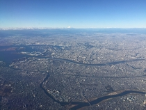 Tokyo with Mt Fuji on the horizon