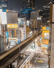 Tokyos Shinjuku Area From Up High  x