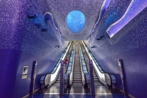 Toledo metro station in Naples designed by Oscar Tusquets Blanca