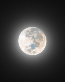 Tonights Full Moon - almost  exposures were used to reveal the mineral colors