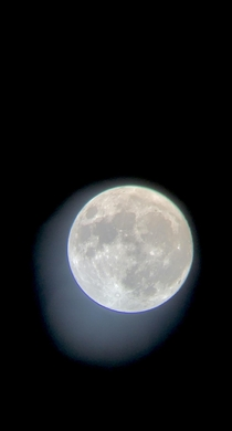Tonights moon  on a Meade mm refractor