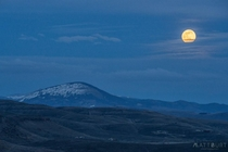 Tonights Pink Moon - Gunnison Colorado