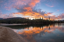 Tonights Sunset from Brandy Creek Beach at Whiskeytown Lake in Northern California