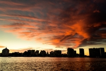 Tonights sunset over Lake Merritt Oakland