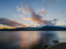 Tonights Sunset over Whiskeytown Lake in Northern California and Snow-Capped Mountains was gorgeous