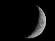 Tonights waxing crescent Moon at mm focal length