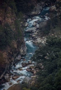 Tons river flowing through a gorge in the Uttarkashi District India
