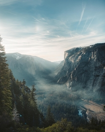 Took a photo of Yosemite Valley from Glacial Point Yosemite CA