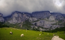 Took a treacherous hike to the balcony of my hotel room in the Picos de Europa but the prize was worth it