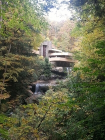 Took a trip to Fallingwater Frank Llyod Wright this weekend I could look and listen to the waterfalls for hours