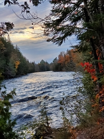Took a trip up to tahquamenon falls MI over the weekend and got this beautiful shot