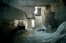 Took a while to shut off the water in this abandoned building in Norilsk Russia