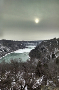 Took my dog for a walk and stumbled upon a beautiful view Something about the sky is so serene Niagara Gorge Niagara Falls Canada