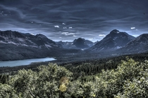 Took some HDR pictures of Glacier National Park in Montana  little did I know it would turn out looking like Mordor