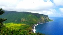 Took this amazing photo of Waipio Valley on one of my treks through Hawaii