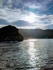 Took this off the coast of Puerto Vallarta Mexico The sun lighting up the water just right