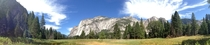 Took this panoramic shot in a field in Yosemite