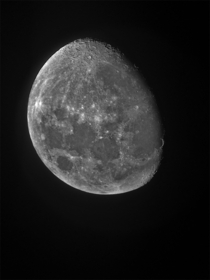Took this photo of the moon last night through my telescope