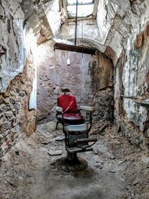 Took this picture a while back Dentists chair at Eastern State Penitentiary a prison from  to -ish