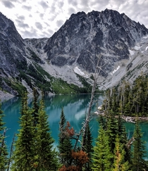 Took this picture of Colchuck Lake sometime ago The water really is that blue