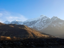 Took this picture of Tilicho Peak last month during a Trek through the Himalayas  x