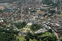 Top-down view on Karlsruhe Germany