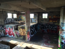 Top floor of an abandoned grain mill Minneapolis MN