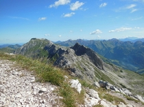 Top of a mountain in Bavaria Germany  x