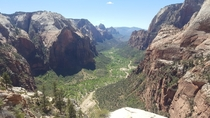 Top of Angels Landing at Zion National Park Utah