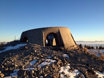 Top of Cold War missile silo near Baker City OR
