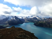 Top of Panorama Ridge looking down on Garabaldi Lake Whistler Canada
