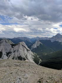 Top of the Sulfur Skyline Trail near Jasper Alberta Beautiful short hike with some hot springs afterwardsxOC