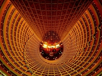 Top view of the atrium of the Jin Mao Tower Shanghai China