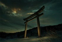 Torii Shrine on the island of Sakhalin off the coast of Russia north of Japan  photo by Pho Bos