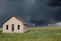 Tornado touches down behind this abandoned homestead on the Colorado Palmer Divide on June   Eric Hurst