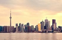 Toronto Skyline as the sun sets