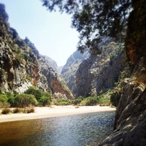Torrent de Pareis MallorcaSpain Summer