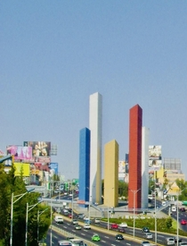Torres de Satlite designed by Luis Barragn Reyes Ferreira and Mathias Goeritz  Mexico City