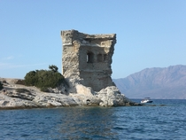 Tour de la Mortella is a ruined th-century Genoese tower on the island of Corsica The British were impressed by how difficult the stout thick-walled fort was to capture so they used it as a template for the  Martello towers they built around their Empire